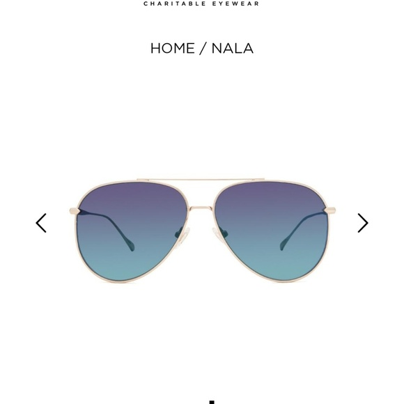 77ff620723 Diff Nala sunglasses gold with blue flash